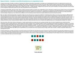Capsule histoire : L'isolation et ses effets dévastateurs sur le comportement social
