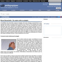 Bruno Devauchelle : Du copier-coller au plagiat...