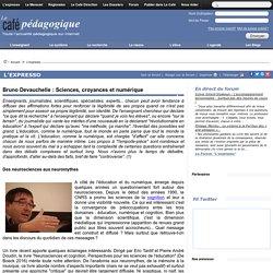 ARTICLE - Duvauchelle : Sciences, croyances et numérique
