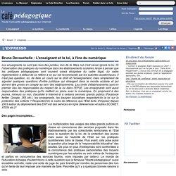 Bruno Devauchelle : L'enseignant et la loi, à l'ère du numérique