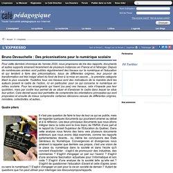 Bruno Devauchelle : Des préconisations pour le numérique scolaire