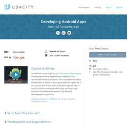 How to Develop Android Apps Online Course
