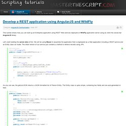 Develop a REST application using AngularJS and WildFly