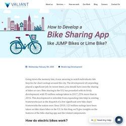 How to Develop a Bike Sharing App like JUMP Bikes or Lime Bike?