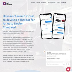 How much would it cost to develop a chatbot for An Auto Dealer Company
