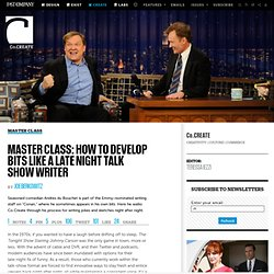 Master Class: How to Develop Bits Like a Late Night Talk Show Writer