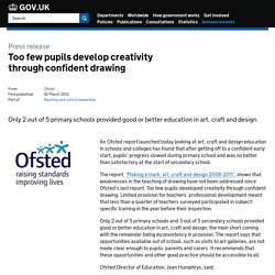 Too few pupils develop creativity through confident drawing