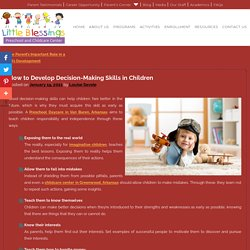 How to Develop Decision-Making Skills in Children