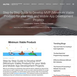 Step by Step Guide to Develop MVP (Minimum Viable Product) for your Web and Mobile App Development Projects