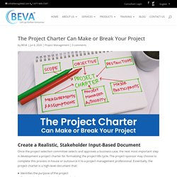 Develop an Efficient, Realistic, Input-Based Project Charter