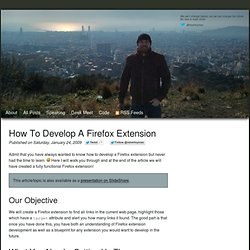How to develop a Firefox extension