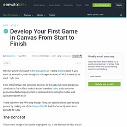 Develop Your First Game in Canvas From Start to Finish