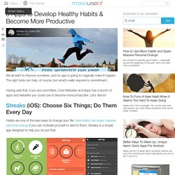 5 Apps to Develop Healthy Habits & Become More Productive