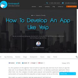How To Develop An App Like Yelp - Erminesoft
