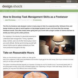 How to Develop Task Management Skills as a Freelancer