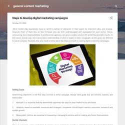 Steps to develop digital marketing campaigns
