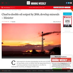 Chad to double oil output by 2016, develop minerals – Minister
