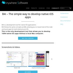 B4i - Develop native iOS apps on Windows