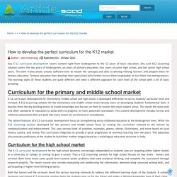 How to develop the perfect curriculum for the K12 market