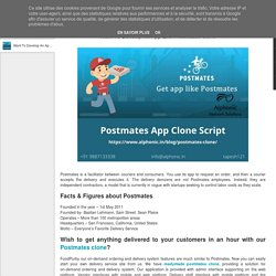 Want To Develop An App Like Postmates Clone