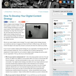 How To Develop Your Digital Content Strategy