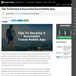 Tips To Develop A Successful Travel Mobile App