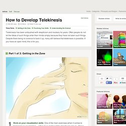 How to Develop Telekinesis: 16 Steps