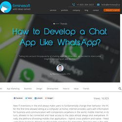 How Much Does it Cost to Develop a Chat app Like WhatsApp? - Erminesoft