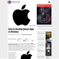 iPhone and Ipad apps development on Windows [How to]