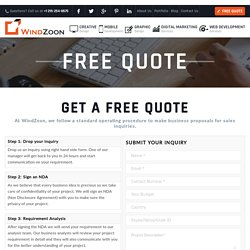 Get a free quote for Website Design, Mobile App Developement, Search Engine Optimization