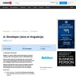 Вакансия Jr. Developer (Java or Angular.js) в Санкт-Петербурге, работа в BeKitzur LLC