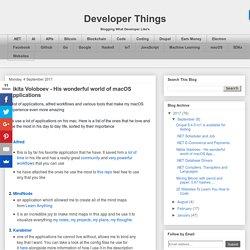 Developer Things: Nikita Voloboev - His wonderful world of macOS Applications