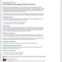 Pixel Bender Developer Center archive