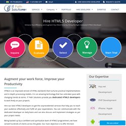 Strengthen your business by hiring HTML5 developer
