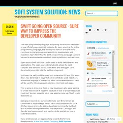 Swift Going Open Source – Sure Way To Impress The Developer Community