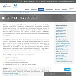 Hire Expert Asp.net Developer from Leading IT Company for Your Product