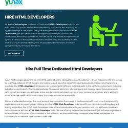 Hire HTML Developer - Full Time Dedicated HTML Programmer