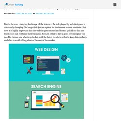 How to Hire a Good Web Developer for Design