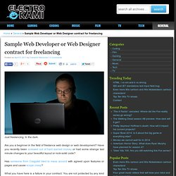 Sample Web Developer or Web Designer contract for freelancing