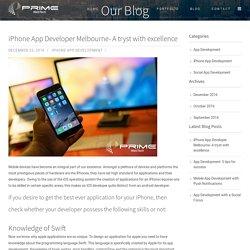 iPhone App Developer Melbourne - Mobile App Development