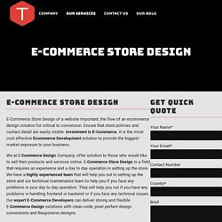 World class eCommerce store Design Company