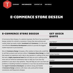 World class eCommerce store Design Company