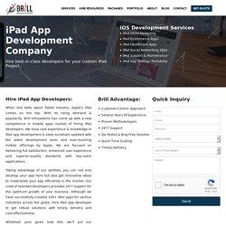 Hire iPad app developer today