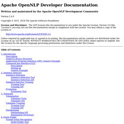 Apache OpenNLP Developer Documentation