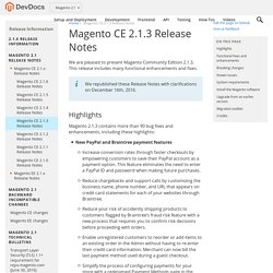 Magento 2 Developer Documentation