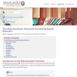The Web Developer Extension for Mozilla-based Browsers
