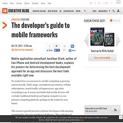 The developer's guide to mobile frameworks