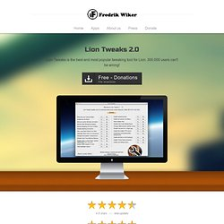 Lion Tweaks 2.0 | Developer Fredrik Wiker - Mountain Tweaks and Lion Tweaks