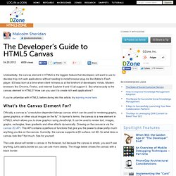 The Developer's Guide to HTML5 Canvas