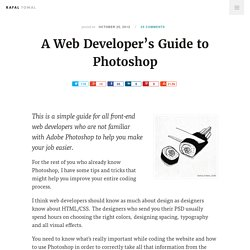A Web Developer's Guide to Photoshop — Rafal Tomal